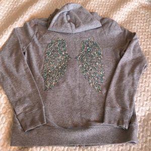 Victoria Secret zipfront hoodie. Sparkle wings